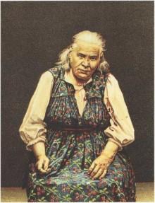 Блаженная Паша Саровская. Литография 1908 г.